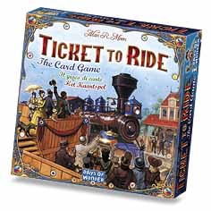 Ticket to Ride: the card game. Image source: Days of Wonder