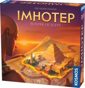 Imhotep box cover, from publisher Kosmos.